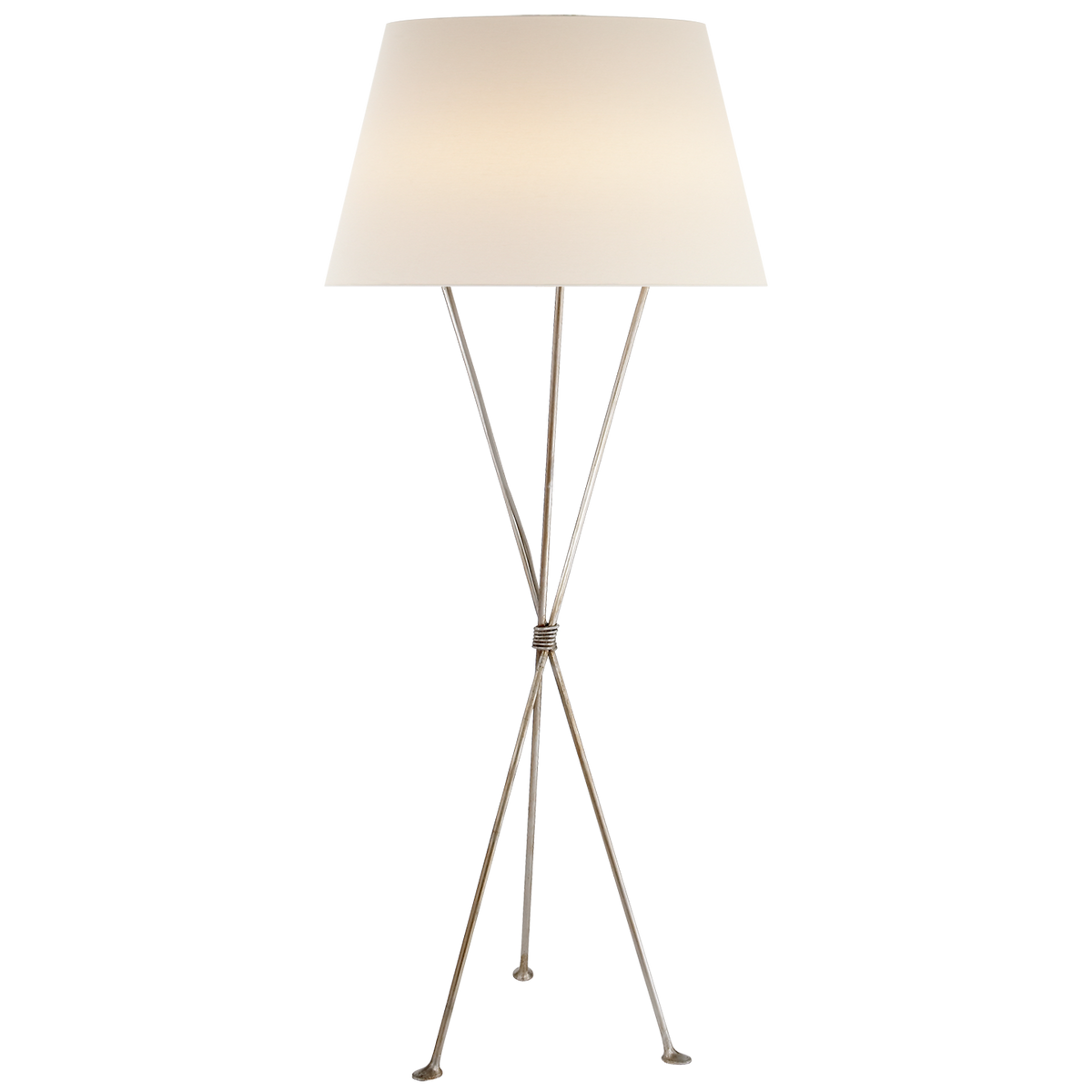 Lebon Floor Lamp, Burnished Silver
