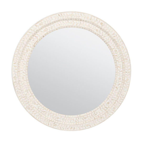 Lexi Natural Bone Mirror