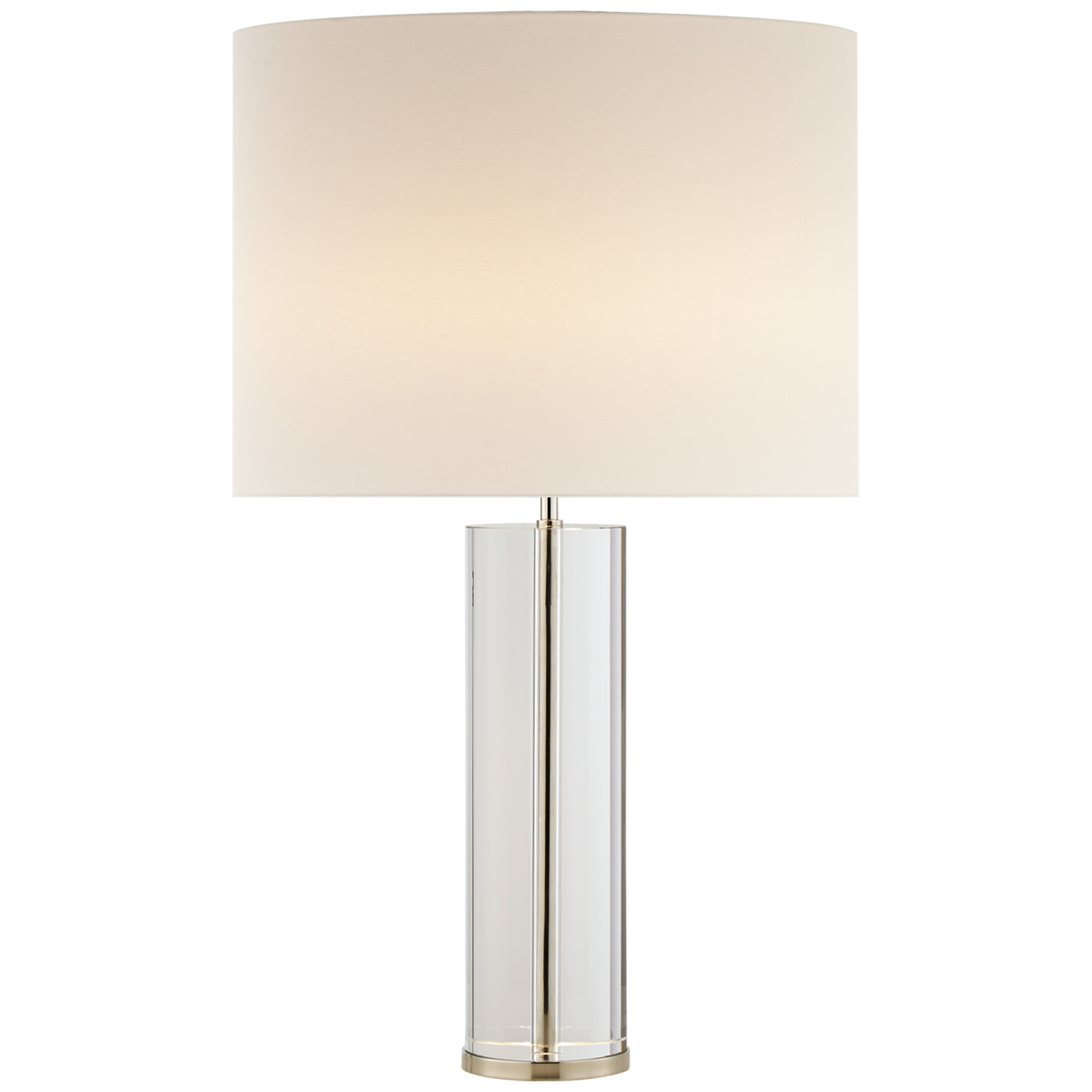 Lineham Table Lamp, Crystal and Polished Nickel
