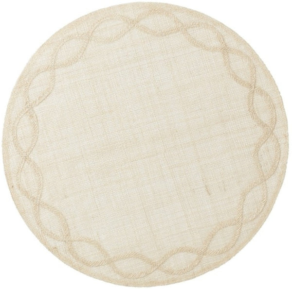 Tuileries Garden Round Placemat, Natural