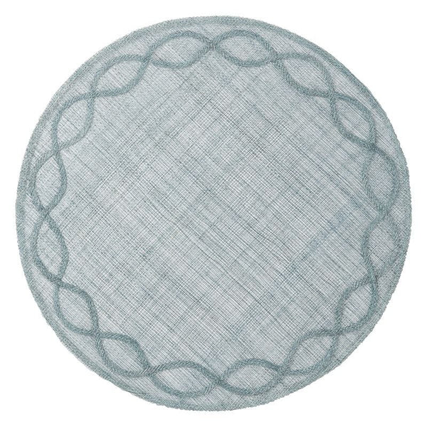 Juliska Tuileries Garden Round Placemat, Ice Blue