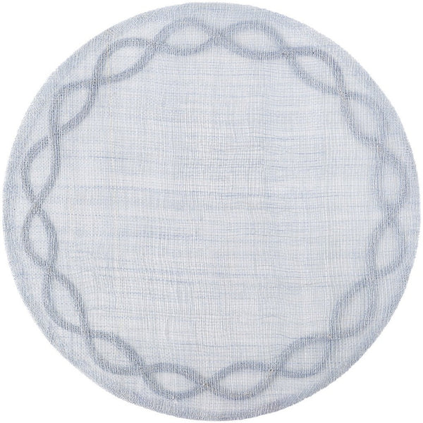 Tuileries Garden Round Chambray Placemat, Chambray