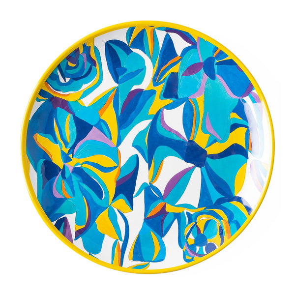 Blue Rose Dinner Plate, Melamine