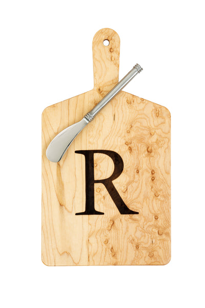 "Maple Cheese Board ""R"""