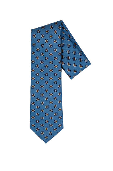 Robert Jensen Medallion Printed Tie, Blue