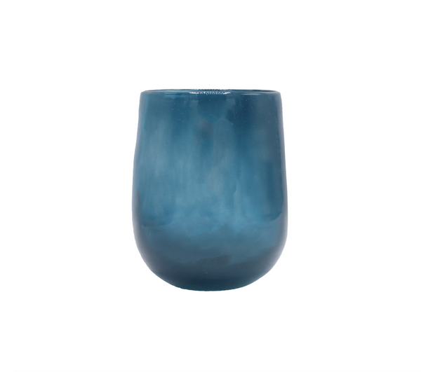 Medium Barrel Vase in Navy Blue