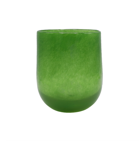Medium Barrel Vase in Jungle Green