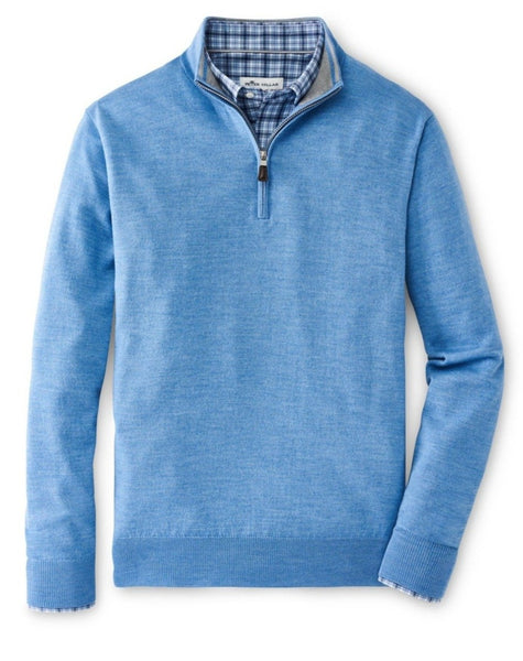 Peter Millar Merino-Silk Quarter-Zip