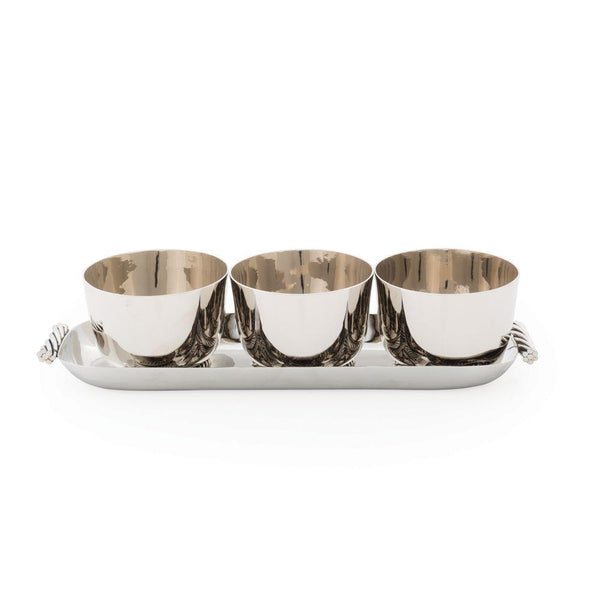 Twist Triple Bowl Set with Tray