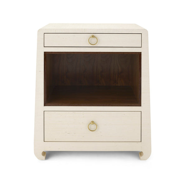 Ming 2 Drawer Side Table in Natural