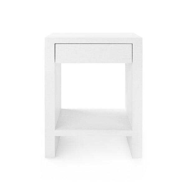 Morgan 1 Drawer Side Table, White