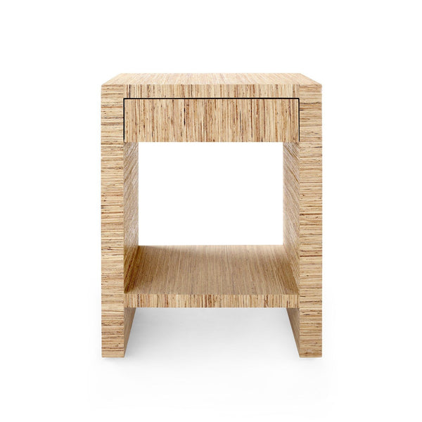 Morgan 1 Drawer Side Table, Natural