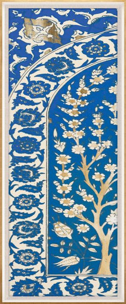 Blue and Gold Moroccan Panel 1