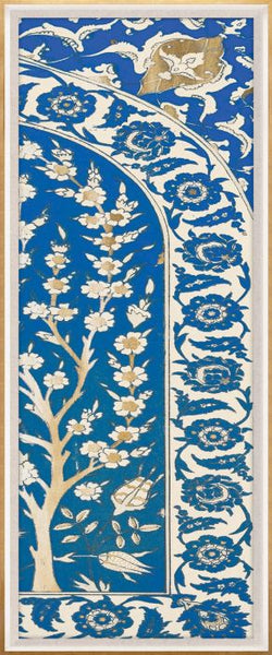 Blue and Gold Moroccan Panel 2
