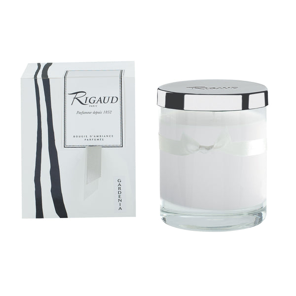 Rigaud Gardenia White Candle, Medium