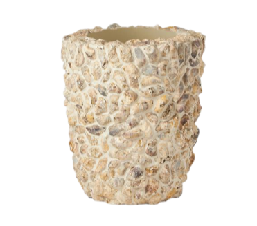 Borsala Oyster Shell Planter, Small
