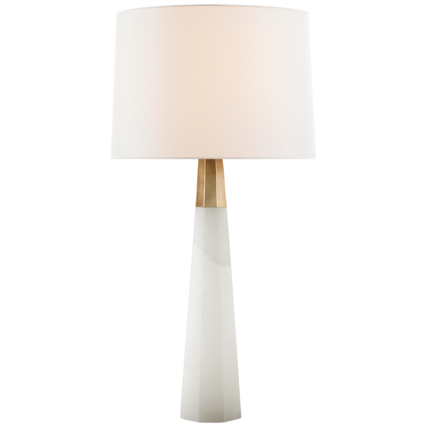 Olsen Table Lamp, Alabaster and Antique Brass