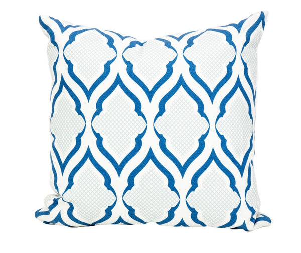 Outdoor Blue Ravenna Pillow