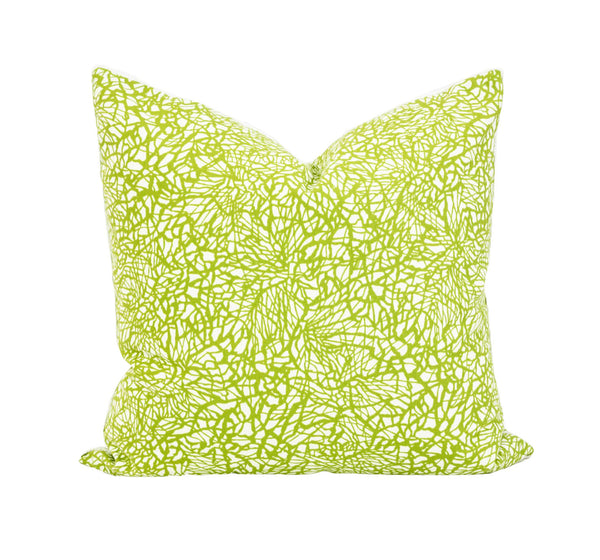 Outdoor Green and White Splash Pillow
