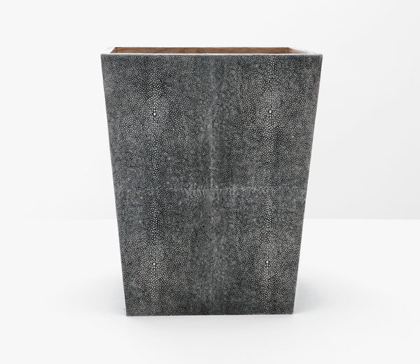 Crosby Cool Gray Shagreen Wastebasket
