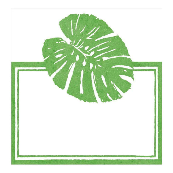 palm leaves green place cards