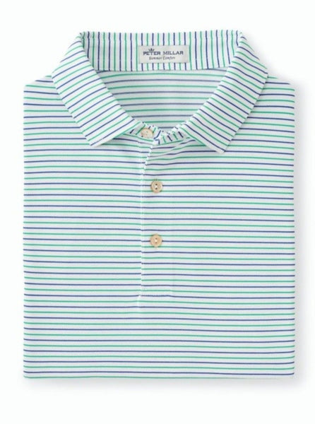 Peter Millar Peace Stripe Stretch Mesh Polo