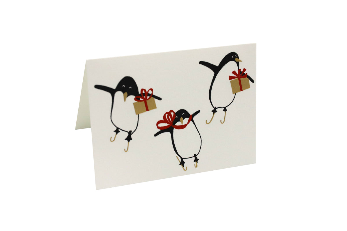 Crane - Engraved Penguins, Boxed Set of 8