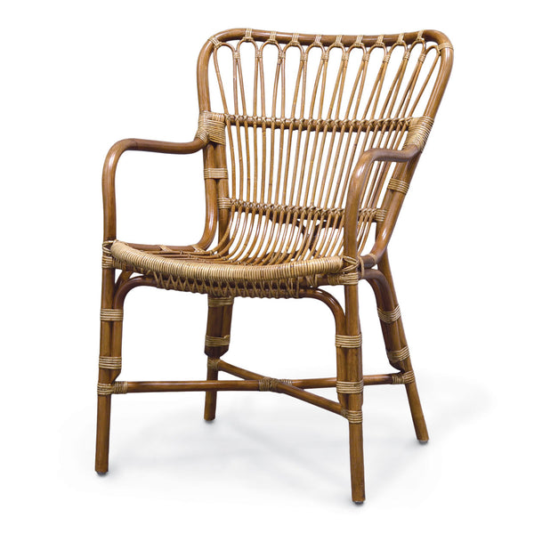 Retro Rattan Dining Arm Chair