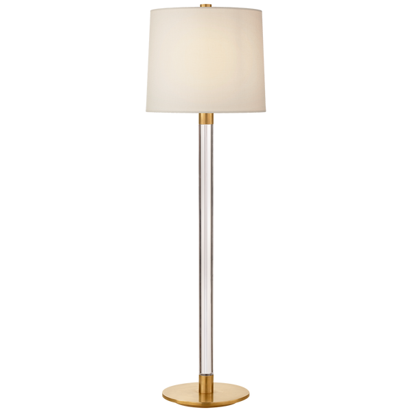 Riga Buffet Lamp, Crystal and Antique Brass