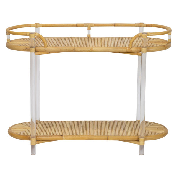 Acrylic and Rattan Console