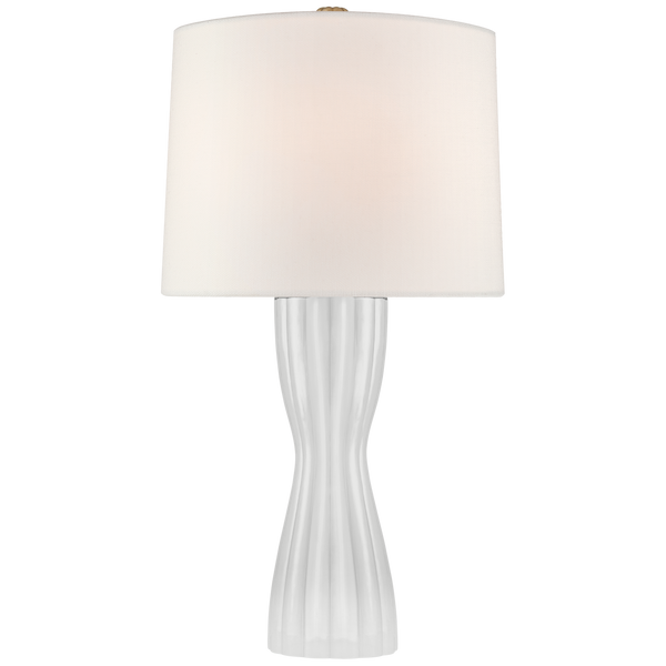 Seine Table Lamp, White Glass