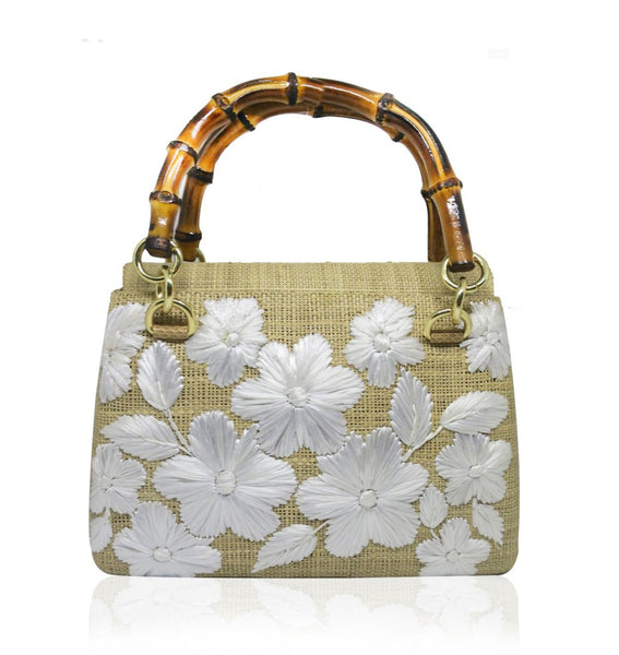 Serpui Leona Bag, Toast with Off White