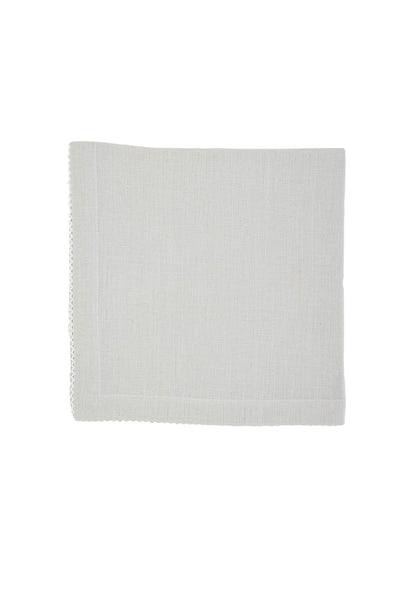 Linen Napkins, Quartz with White Pico Edge