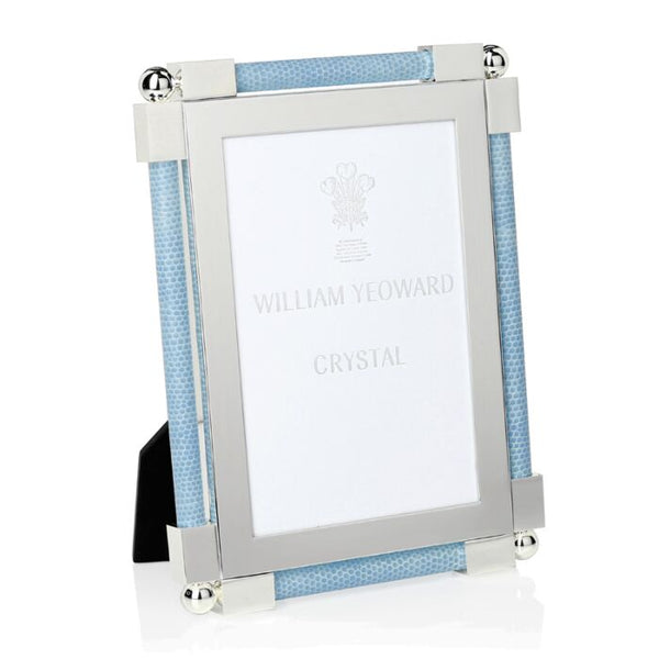 William Yeoward Crystal shagreen light blue frame