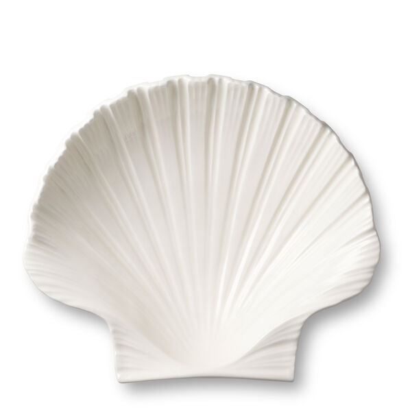 AERIN Shell Platter in Cream Ceramic, Medium