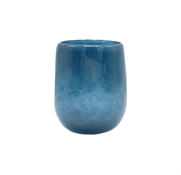 Small Barrel Vase in Navy Blue