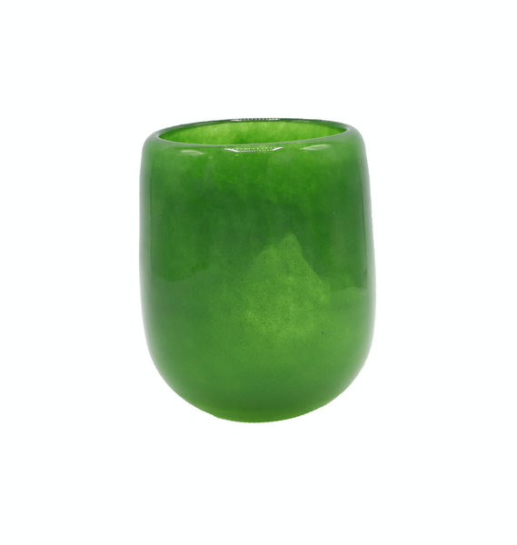 Small Barrel Vase in Jungle Green