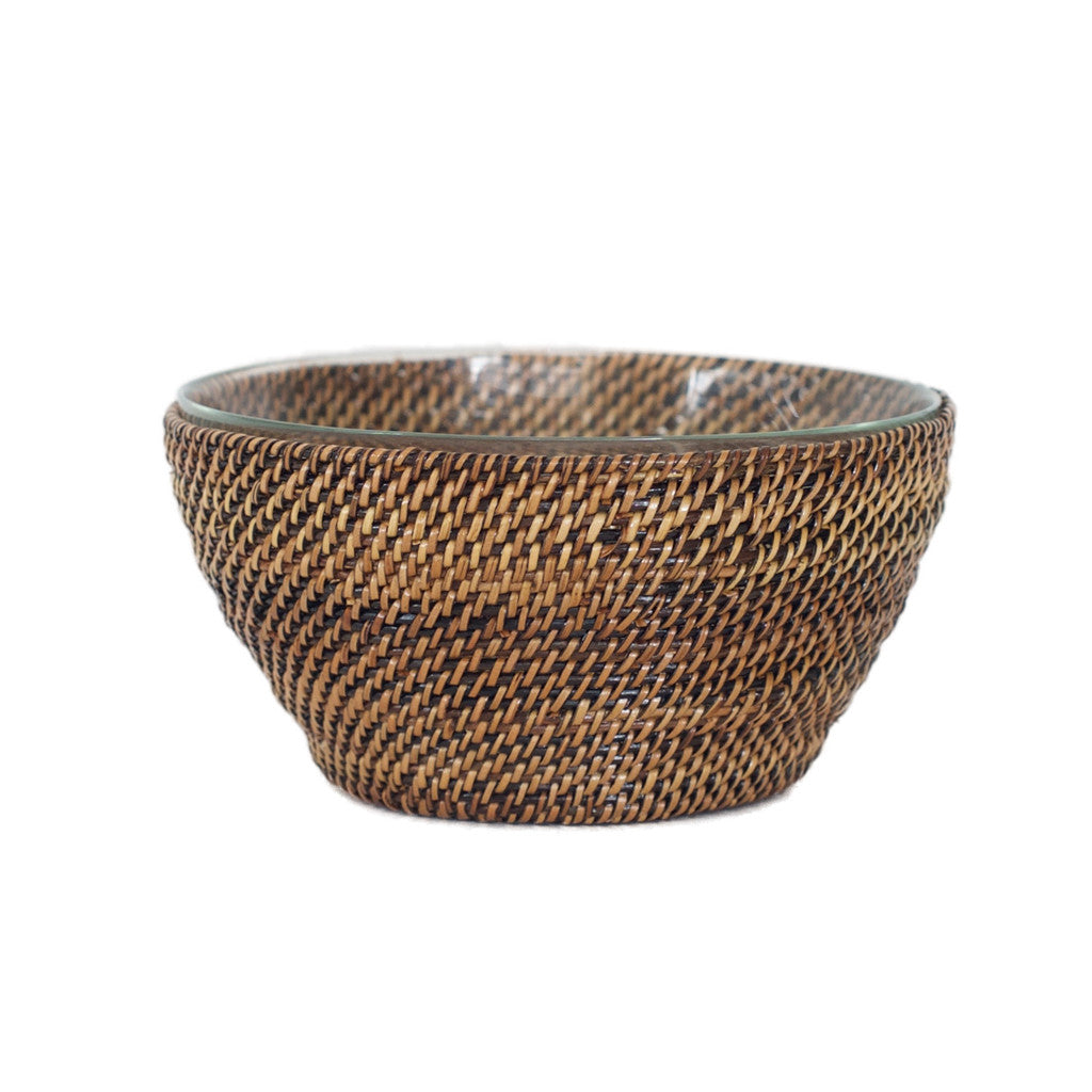 Round Bowl with Glass Insert, Small