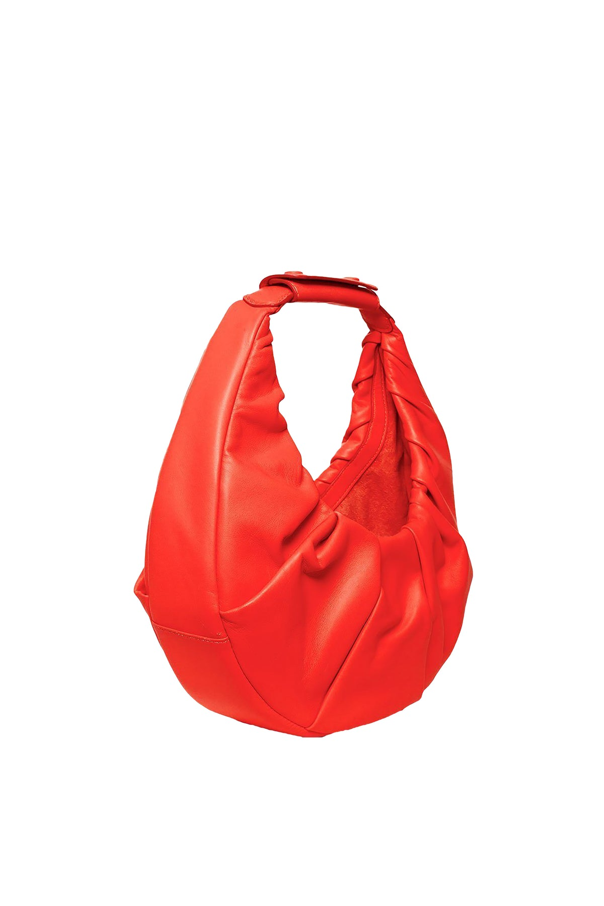 Staud Soft Moon Bag, Hawaiian Red