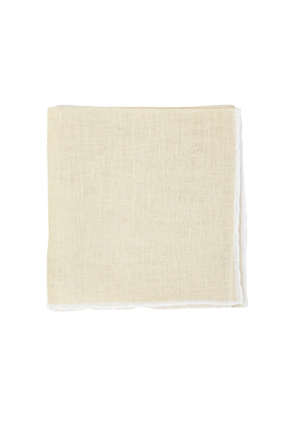 Robert Jensen Solid Linen Pocket Square, Khaki