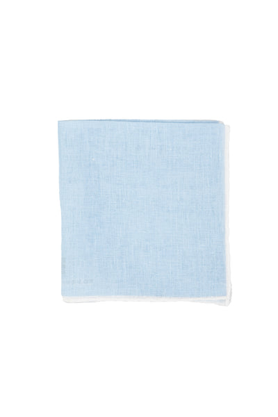 Robert Jensen Solid Linen Pocket Square, Skylight Blue