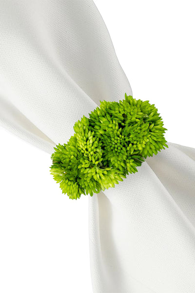 Spring Sedum Napkin Ring Set of 4,