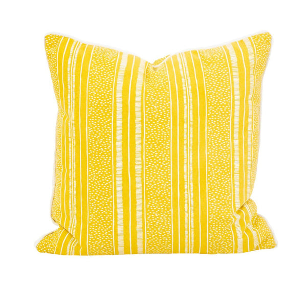 Outdoor Yellow Stripe Pillow