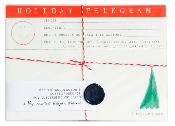 Mr. Boddington Holiday - Telegram Postcards, Set of 6
