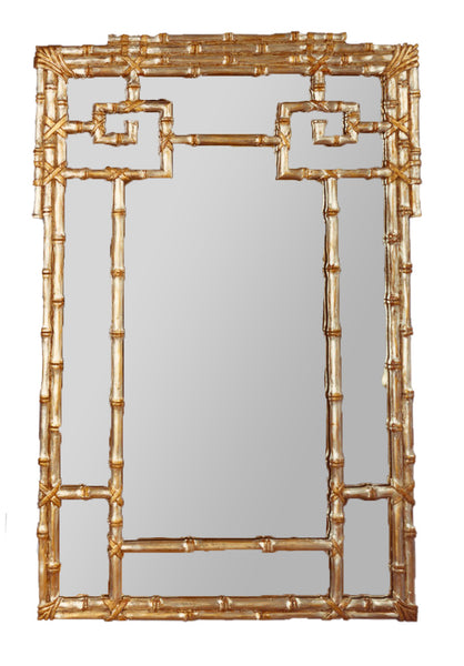 "CG Antique Gold Oriental Mirror, 38"" X 58"""