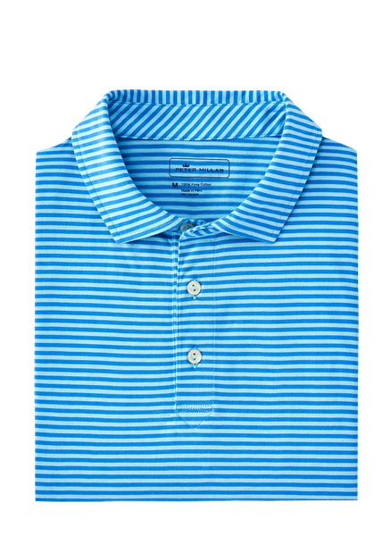 Peter Millar Wanaka Aqua Cotton Polo