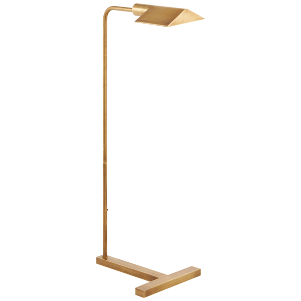 William Pharmacy Floor Lamp, Antique Brass