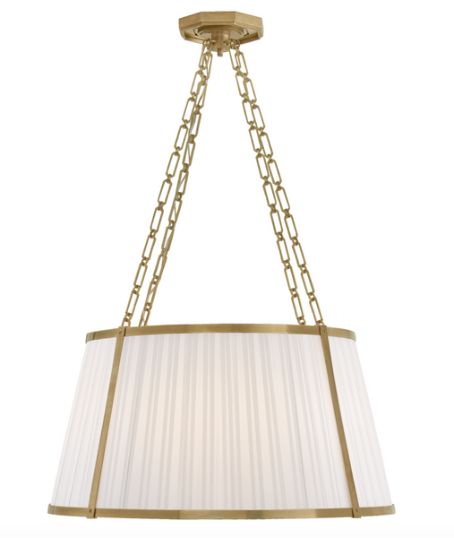 Windsor Large Hanging Shade in Natural Brass