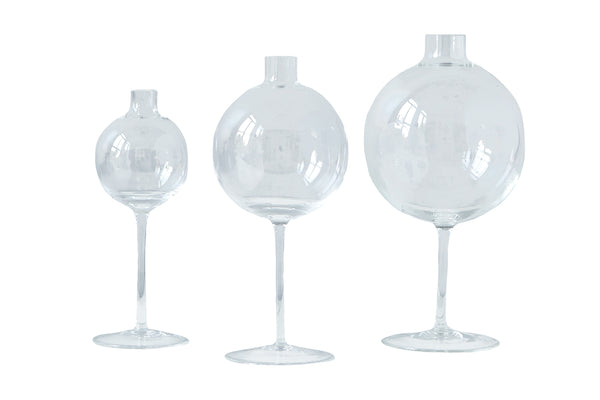 Clear Wine Glass Vase, Small