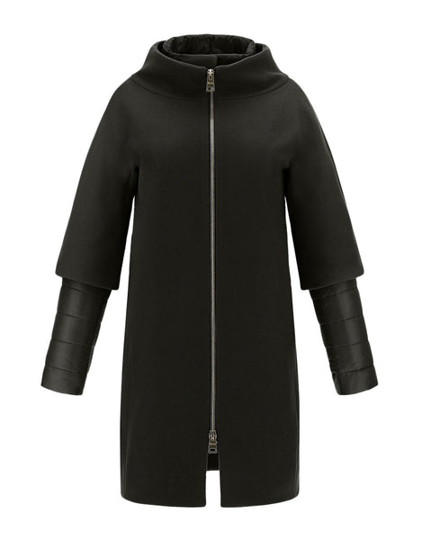 Herno Nylon Ultralight and Diagonal Wool Coat